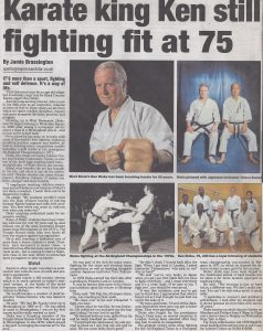Ken Dicks fighting fit at 75 years of age.